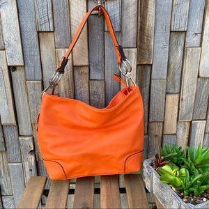 ALyssa orange peel colored hand bag purse shoulder